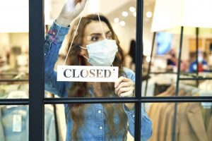 Shop closed down due to virus next wave